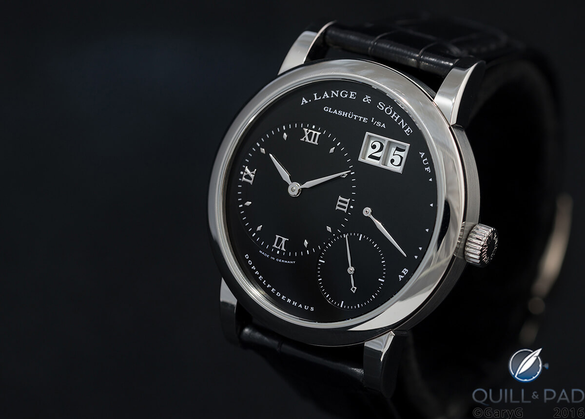 Beauty as well as rarity: A. Lange & Söhne Lange 1 in steel with black dial