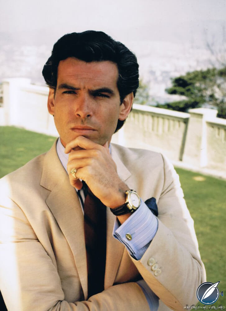 Pierce Brosnan wearing a Pasha de Cartier in 'Noble House'