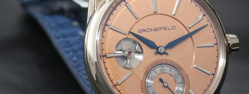 Grönefeld 1941 Remontoire in white gold with salmon dial
