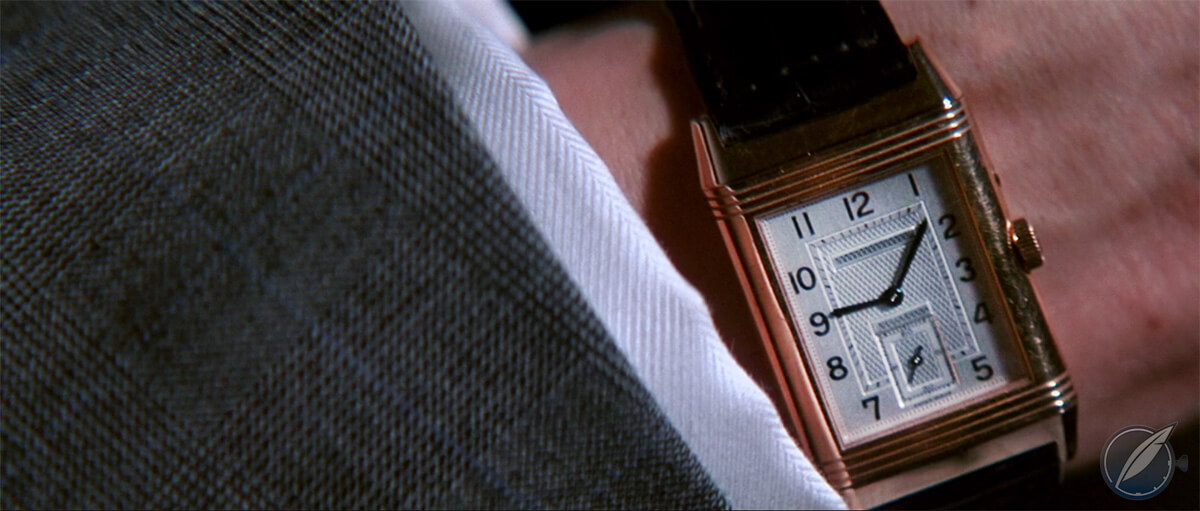 Pierce Brosnan wearing a Jaeger-LeCoultre Reverso in 'The Thomas Crown Affair'