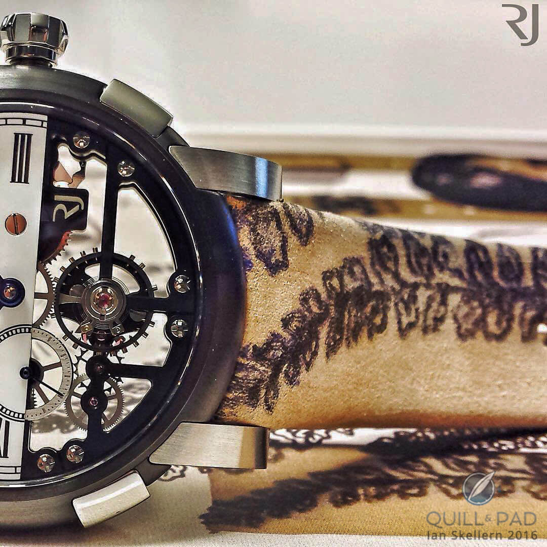 The tattooed strap of the Romain Jerome Tattoo-DNA by Xoil