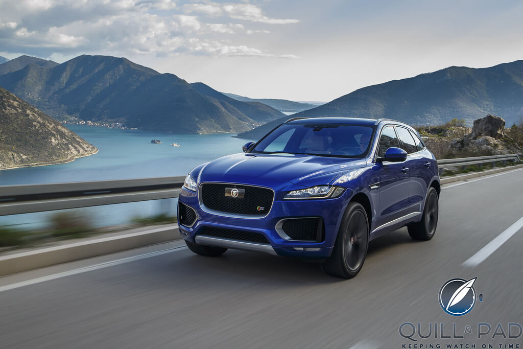 Jaguar F-Pace in its natural habitat: the open road
