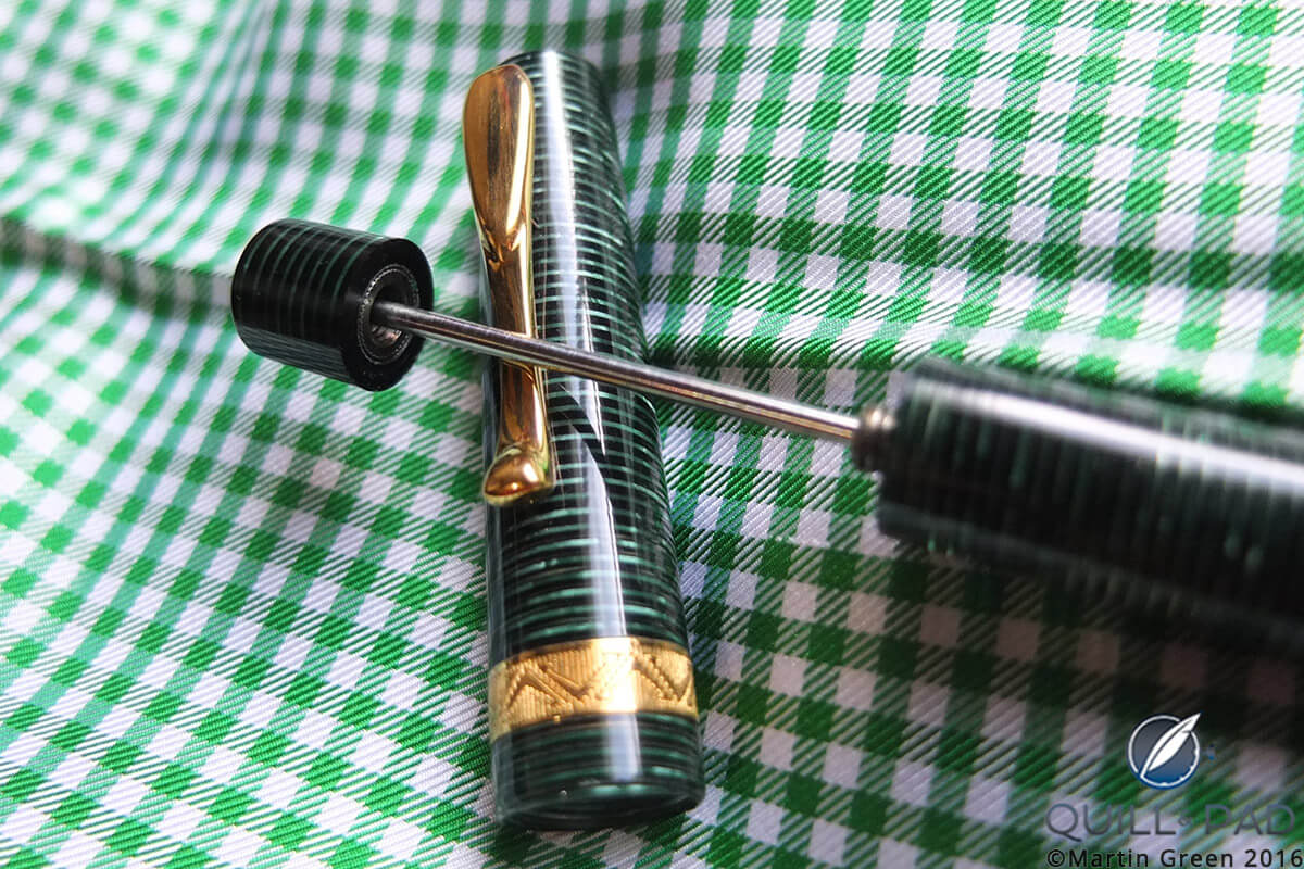High-vacuum, but low practicality, power filler on the author's Visconti Manhattan fountain pen