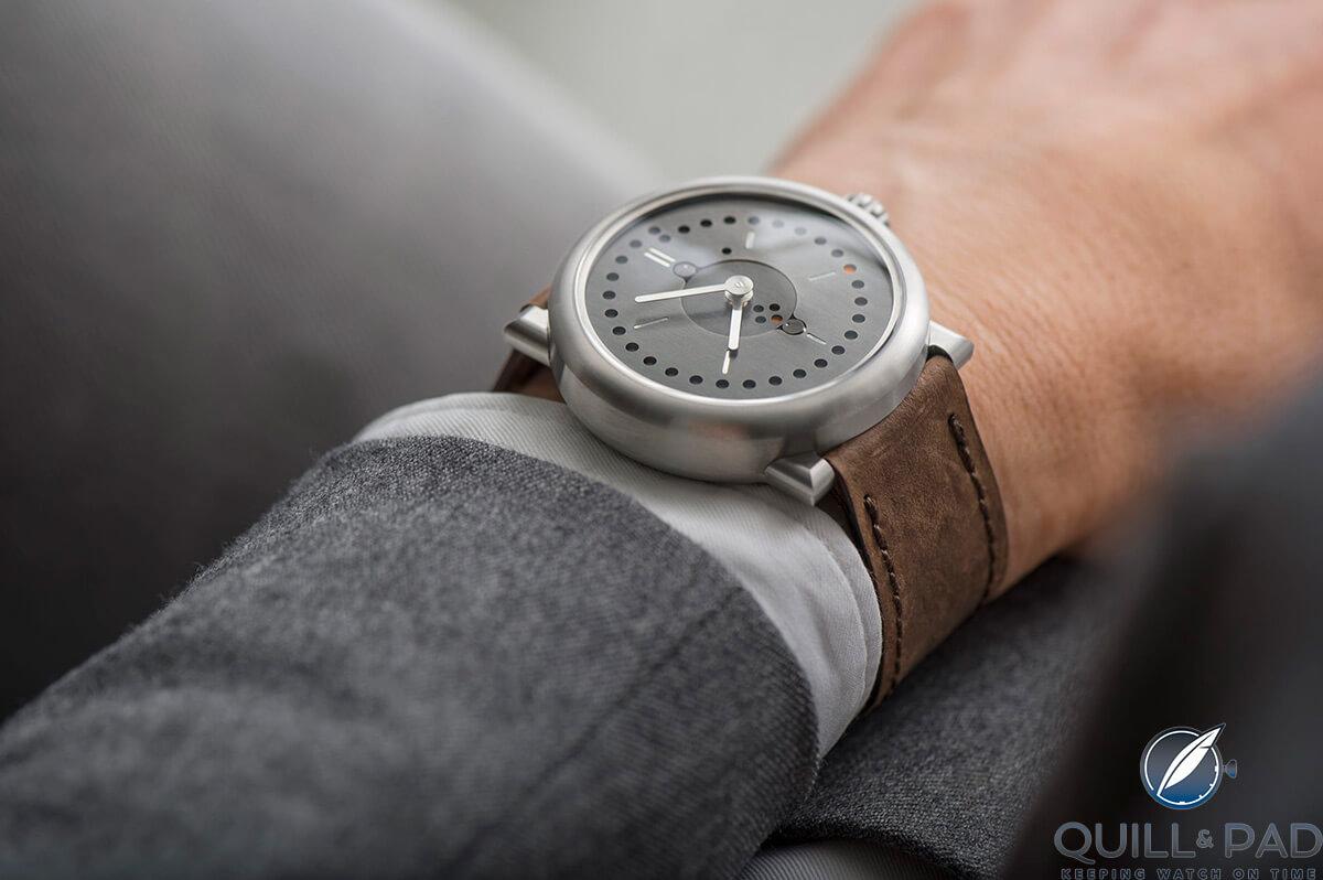 Ochs und Junior Perpetual Calendar on the wrist