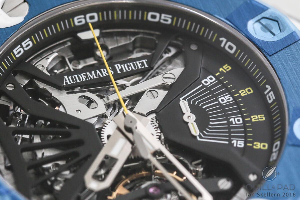 Close look dial side of the Audemars Piguet Royal Oak Concept Supersonnerie