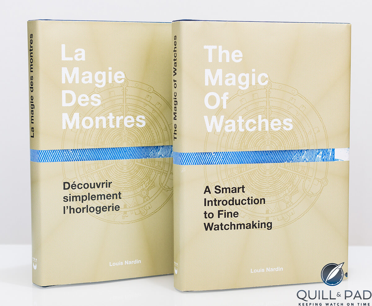 The cover of 'The Magic of Watches', available in English and French
