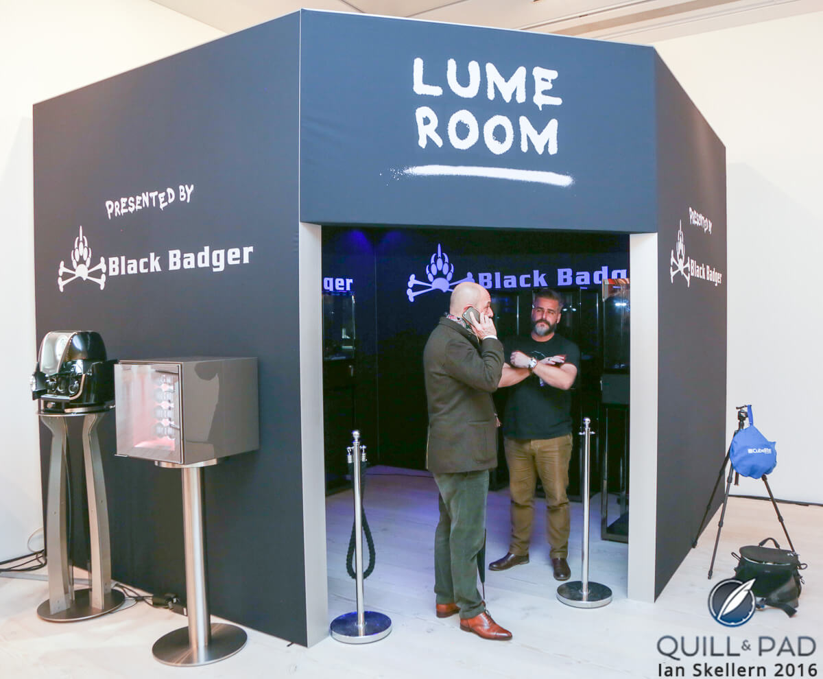 The Black Badger Lume Room at SalonQP 2016
