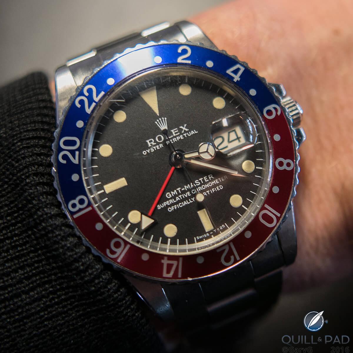 Rolex GMT Master presented to Derek Gardner by Sir Jackie Stewart
