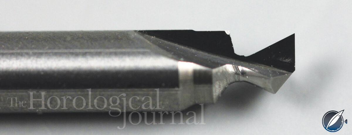Close-up of cutter for Derek Pratt's H4 reconstruction (photo courtesy British Horological Journal)