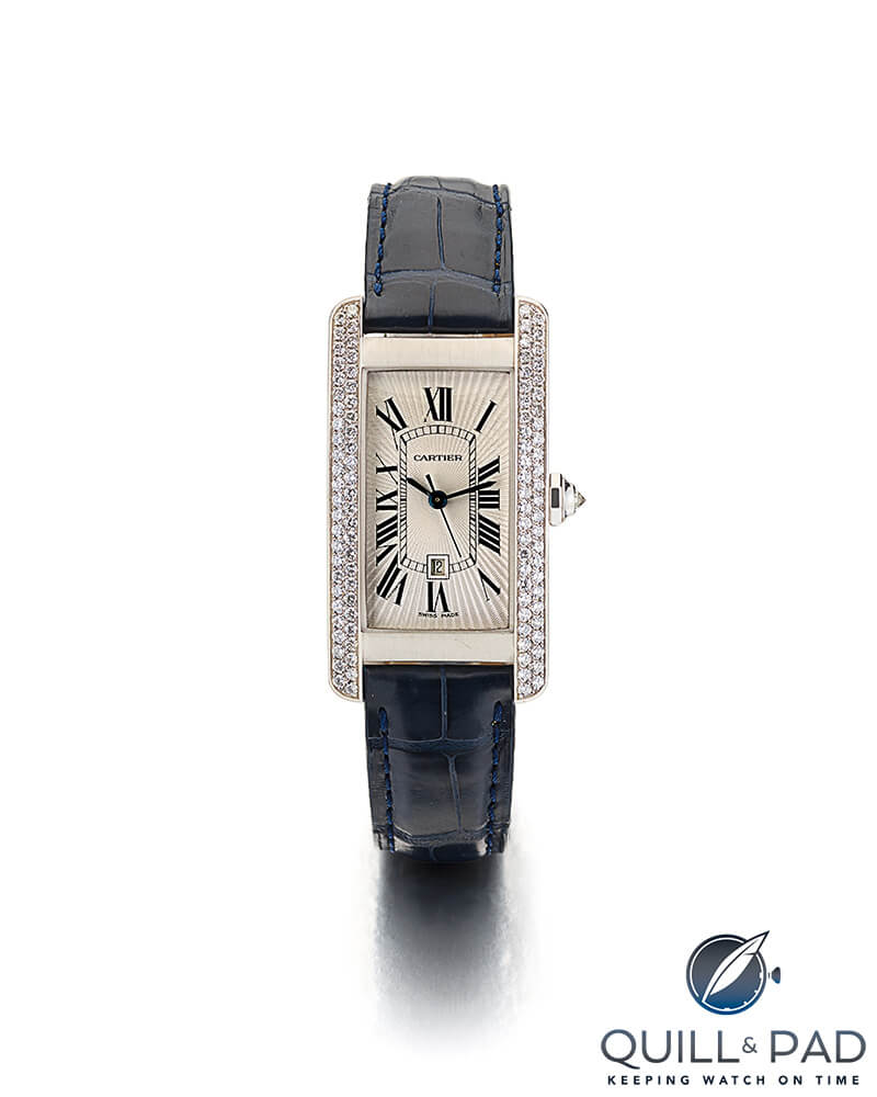 Cartier Tank Américaine from the Bonham's Jackie Collins auction