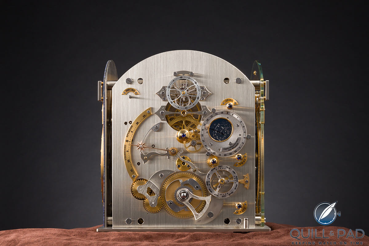 Under the dial of the Konstantin Chaykin Moscow Comptus Clock