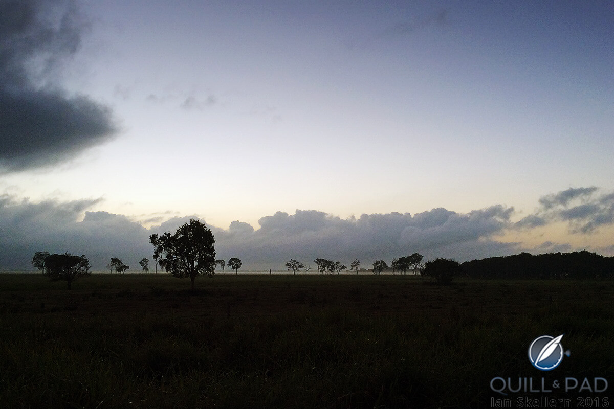Sun rising over a cattle property near Mackay, Queensland