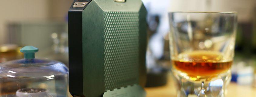 The Macallan whiskey mechanical hip flask by Urwerk