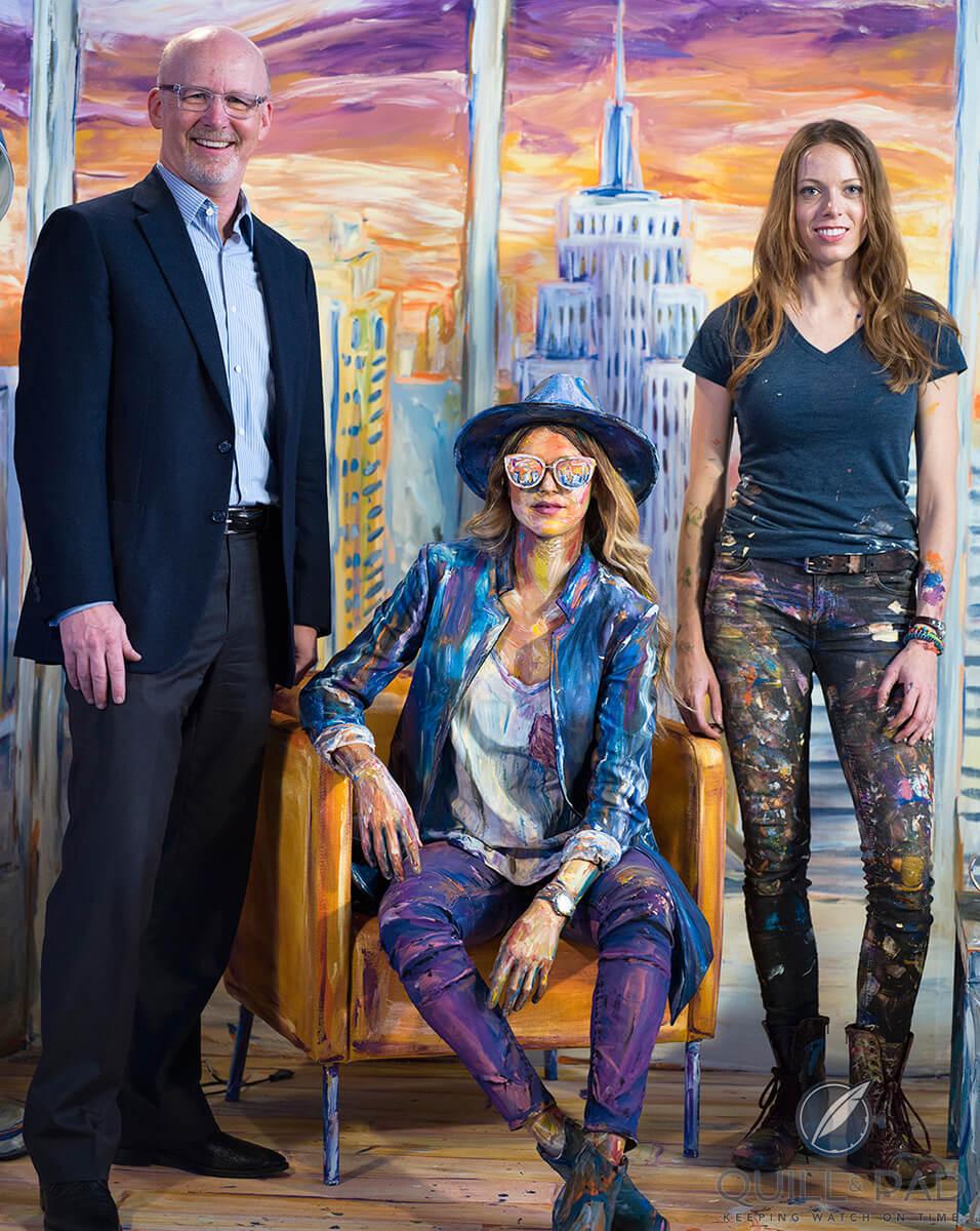 The author, model, and artist Alexa Meade, Baselworld 2017