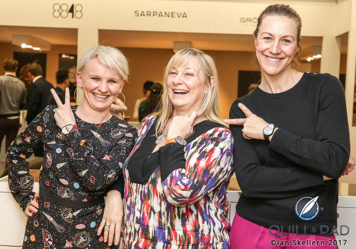 Fiona Krüger, Elizabeth Doerr and Nola Martin at Baslelworld 2017