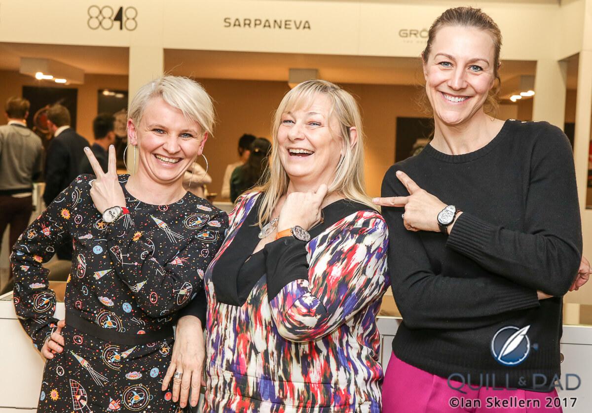 Fiona Krüger, Elizabeth Doerr and Nola Martin at Baslelworld 2017