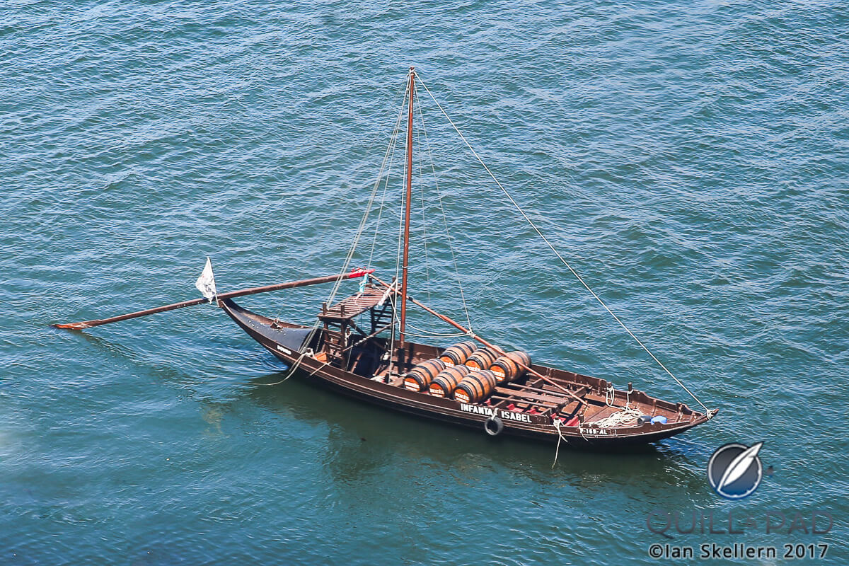 Rabelo boat which was once use for shipping Port from where it was grown and made upriver in the Alto Douro to Porto