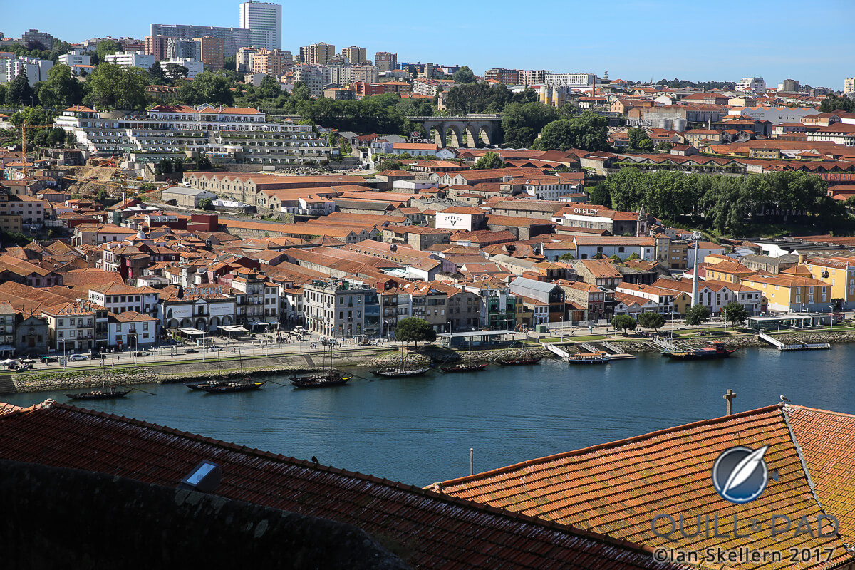 Looking from Porto across the Douro river to the Port houses in Vila Nova de Gaia