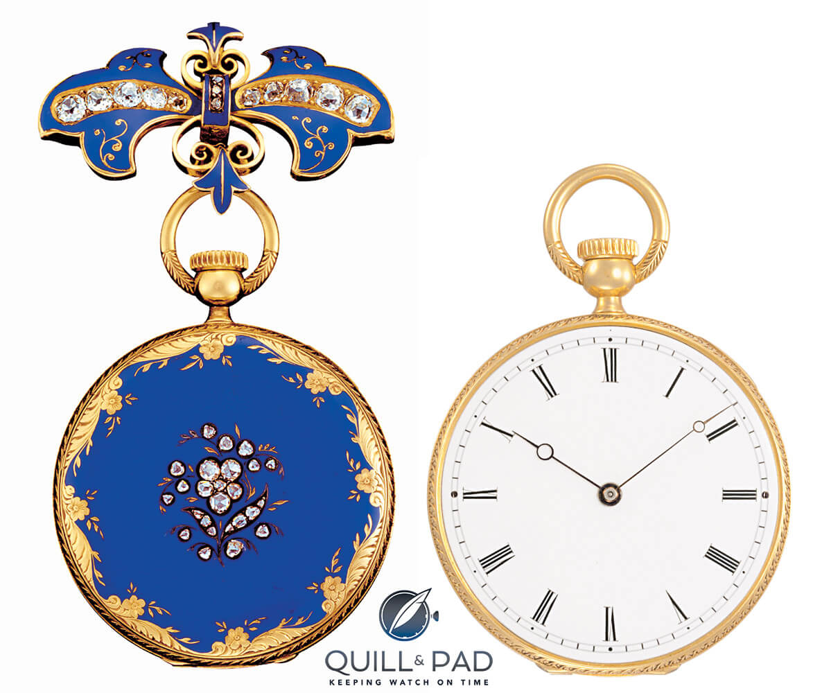 Patek Philippe pendant watch no. 4536 from 1851 belonging to Queen Victoria
