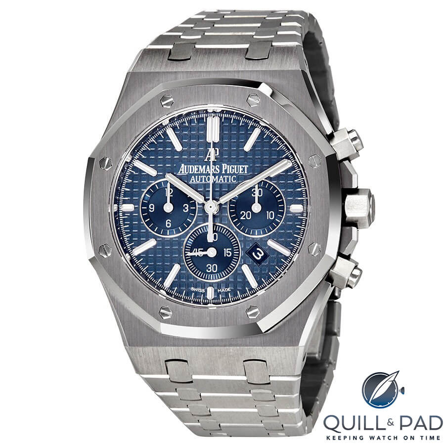 Audemars Piguet Royal Oak Chronograph in stainless steel with blue dial