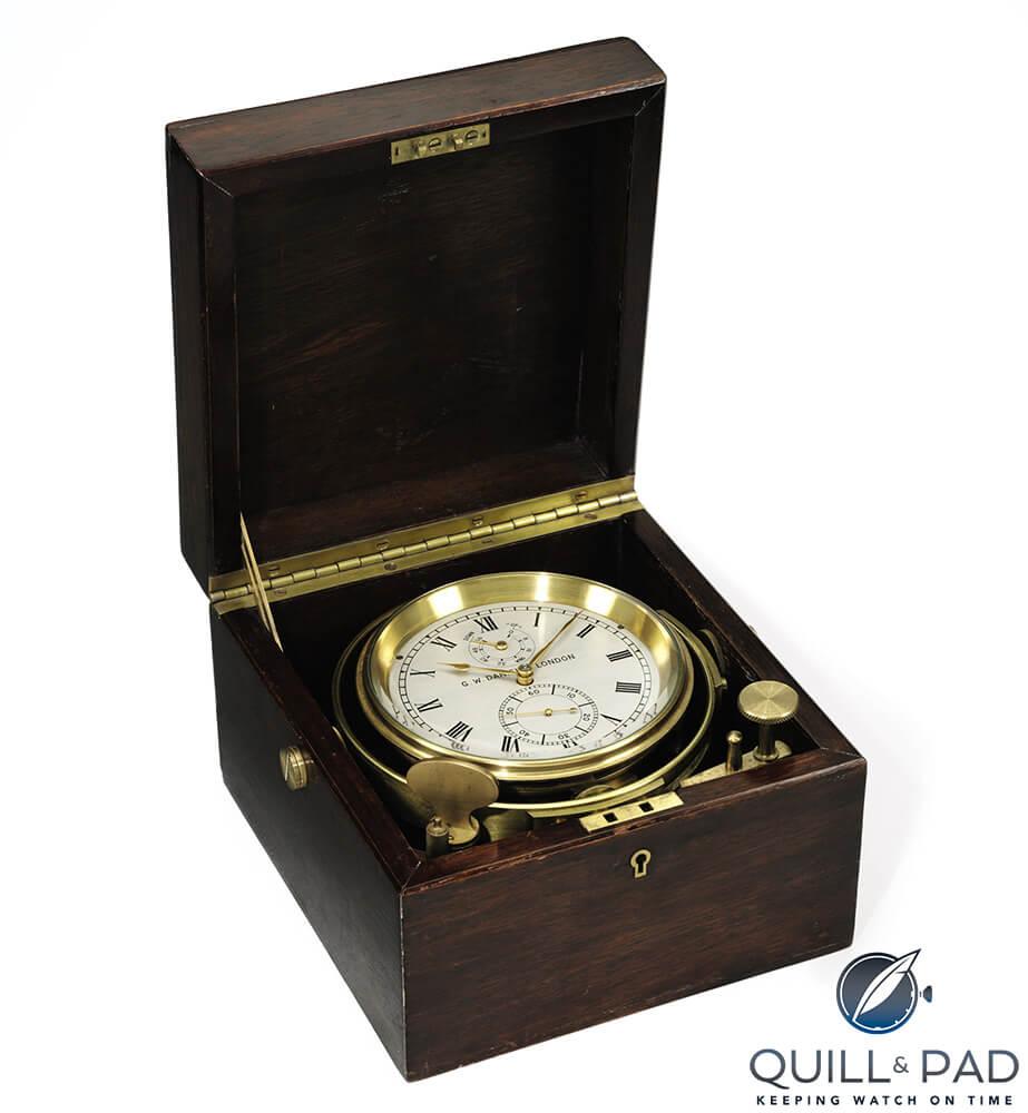 George Daniels Thomas Mercer Marine Chronometer with Earnshaw escapement