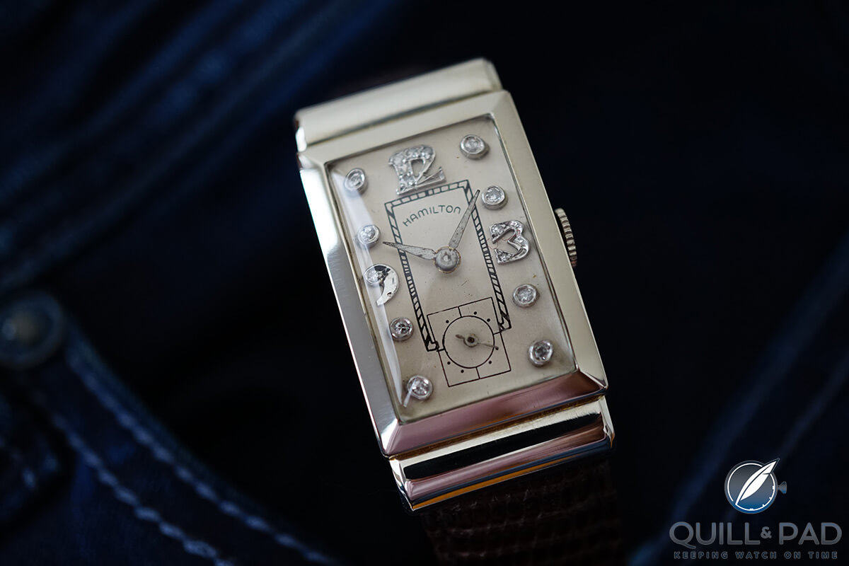 Diamond-set vintage Hamilton