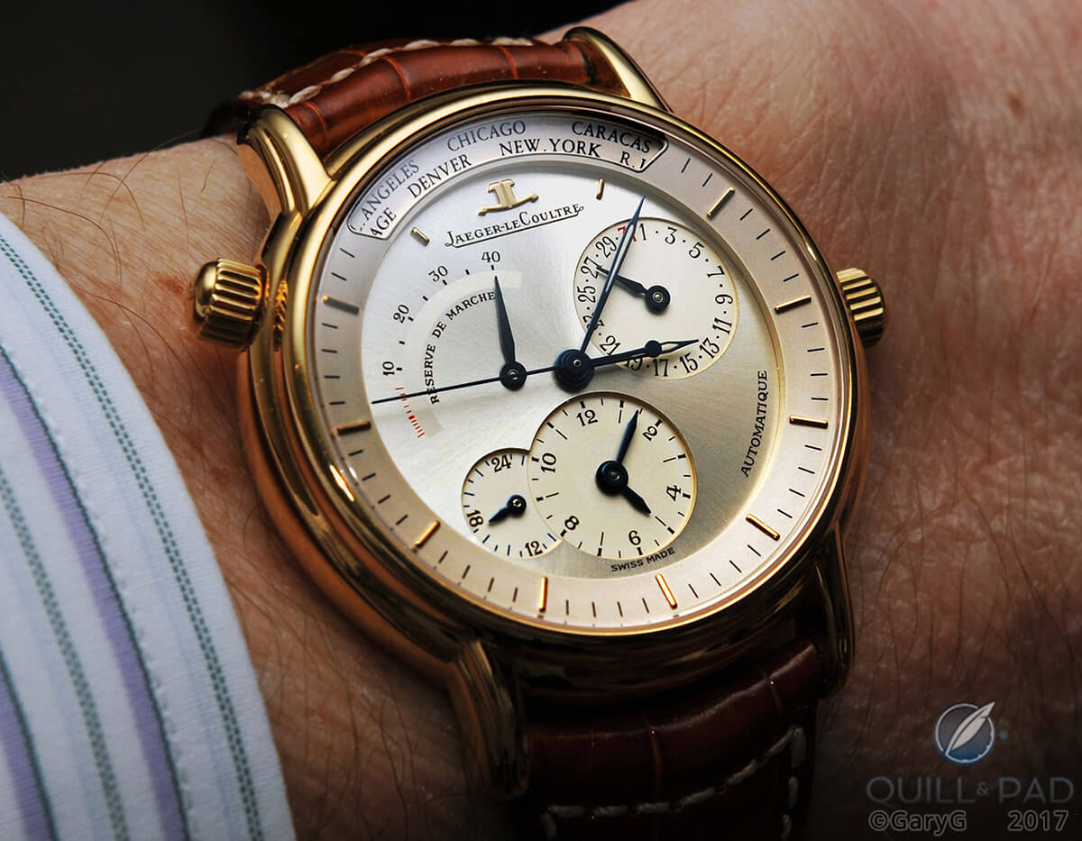 Parting shot: Jaeger-LeCoultre Memovox on the author's wrist