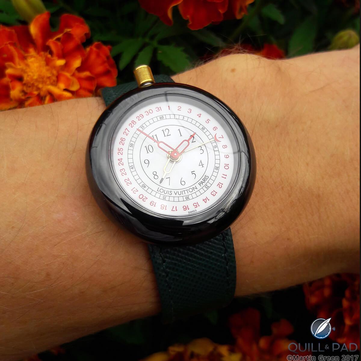 Louis Vuitton Monterey II on the wrist