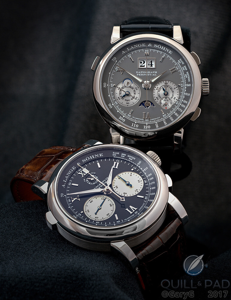 Products of consolidation: the author's two A. Lange & Söhne chronographs