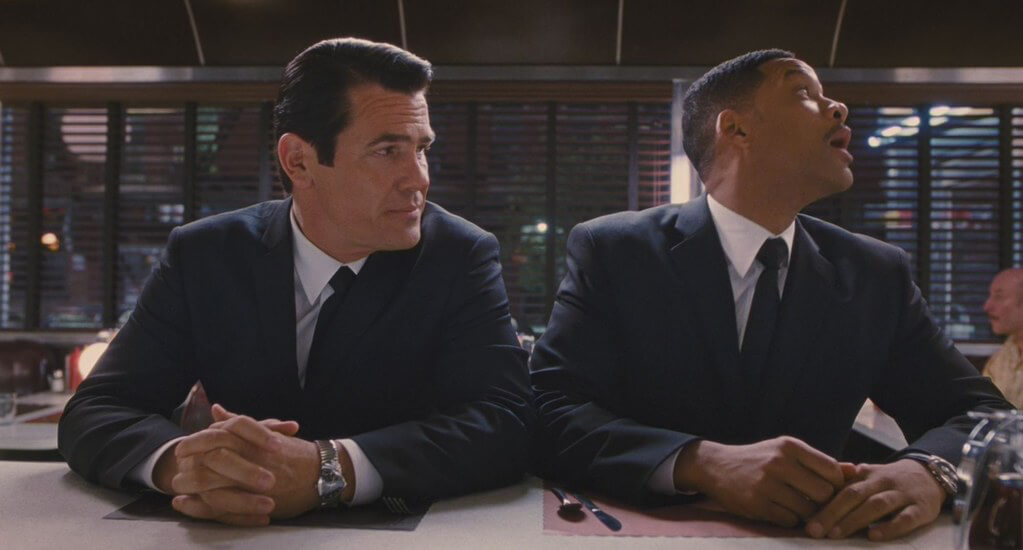 Josh Brolin and Will Smith both wearing Hamilton Venturas in Men in Black III