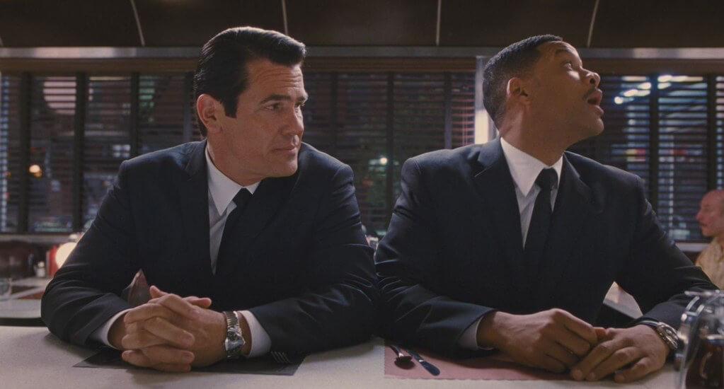 Josh Brolin and Will Smith both wearing Hamilton Venturas in Men in Black III