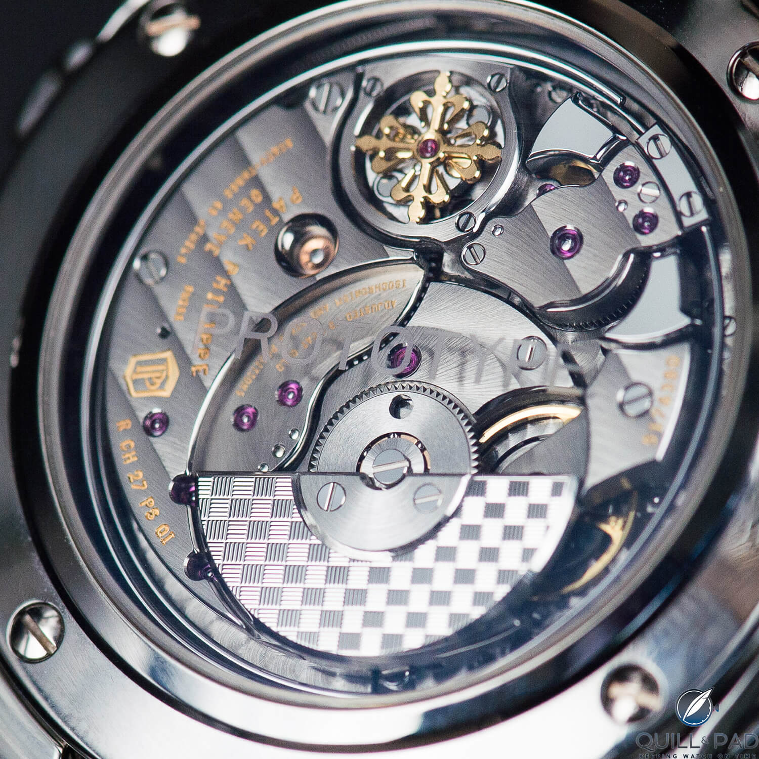 Patek Philippe Caliber R CH 27 PS QI automatic winding grand complication movement powers the Reference 5208T-010 unique piece in titanium for Only Watch 2017