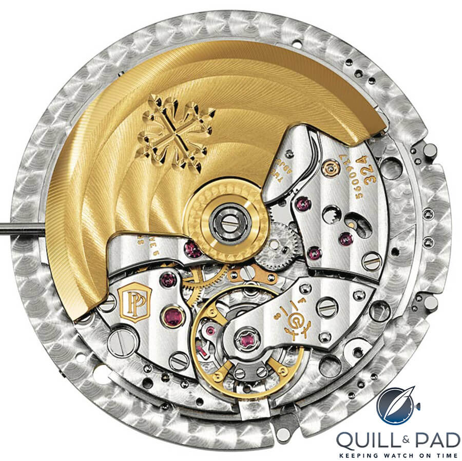Patek Philippe Caliber 324 S C FUS with Spiromax balance spring and Gyromax variable inertia balance