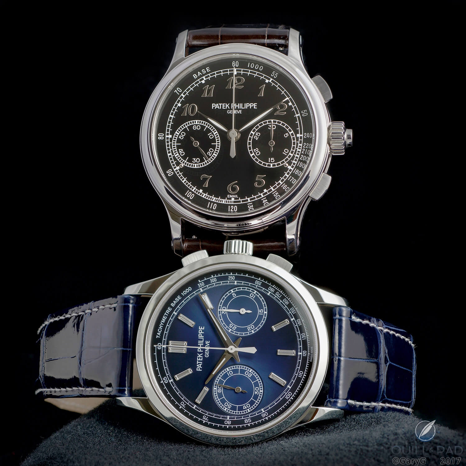 Compare and contrast: Patek Philippe References 5370P (top) and 5170P