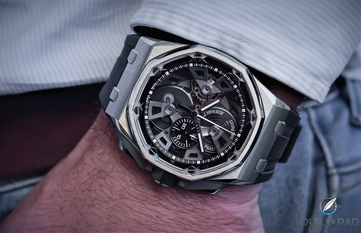Audemars Piguet Royal Oak Offshore Chronograph Tourbillon, celebrating the Offshore's 25th Anniversary