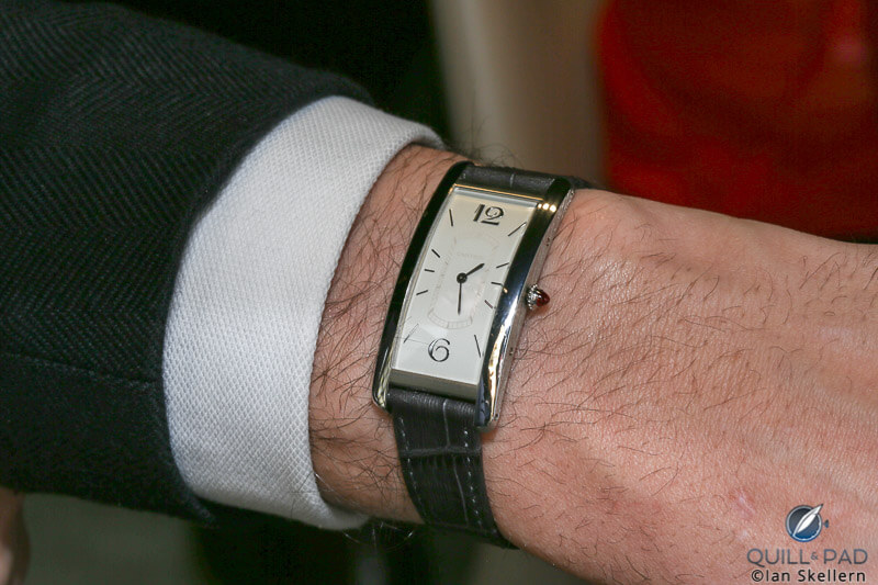 Cartier Tank Cintrée on the wrist