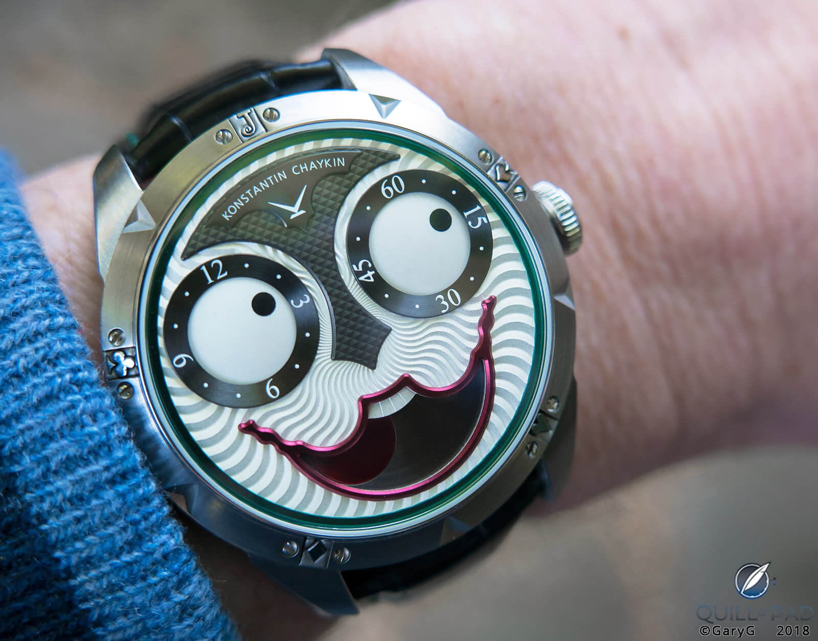 Don't worry, be happy: Joker on the wrist at 2:10 pm