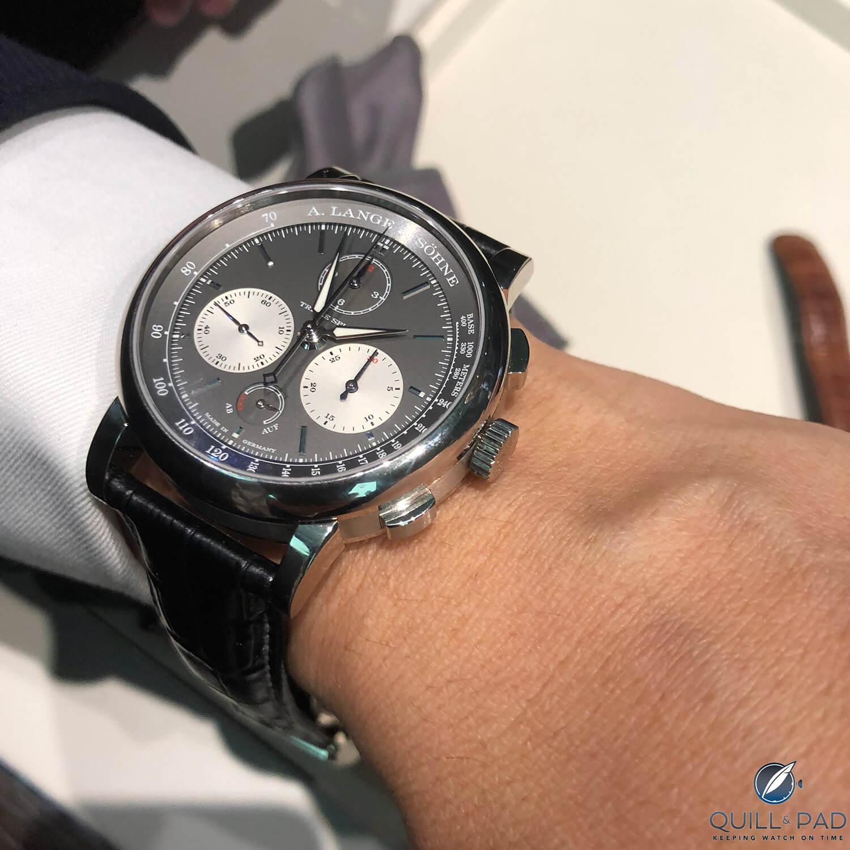 A. Lange & Söhne Triple Split on the wrist