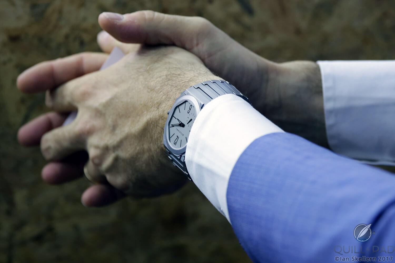 Bulgari Octo Finissimo Automatic on the wrist