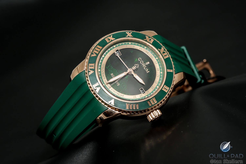 Corum gem-set in green