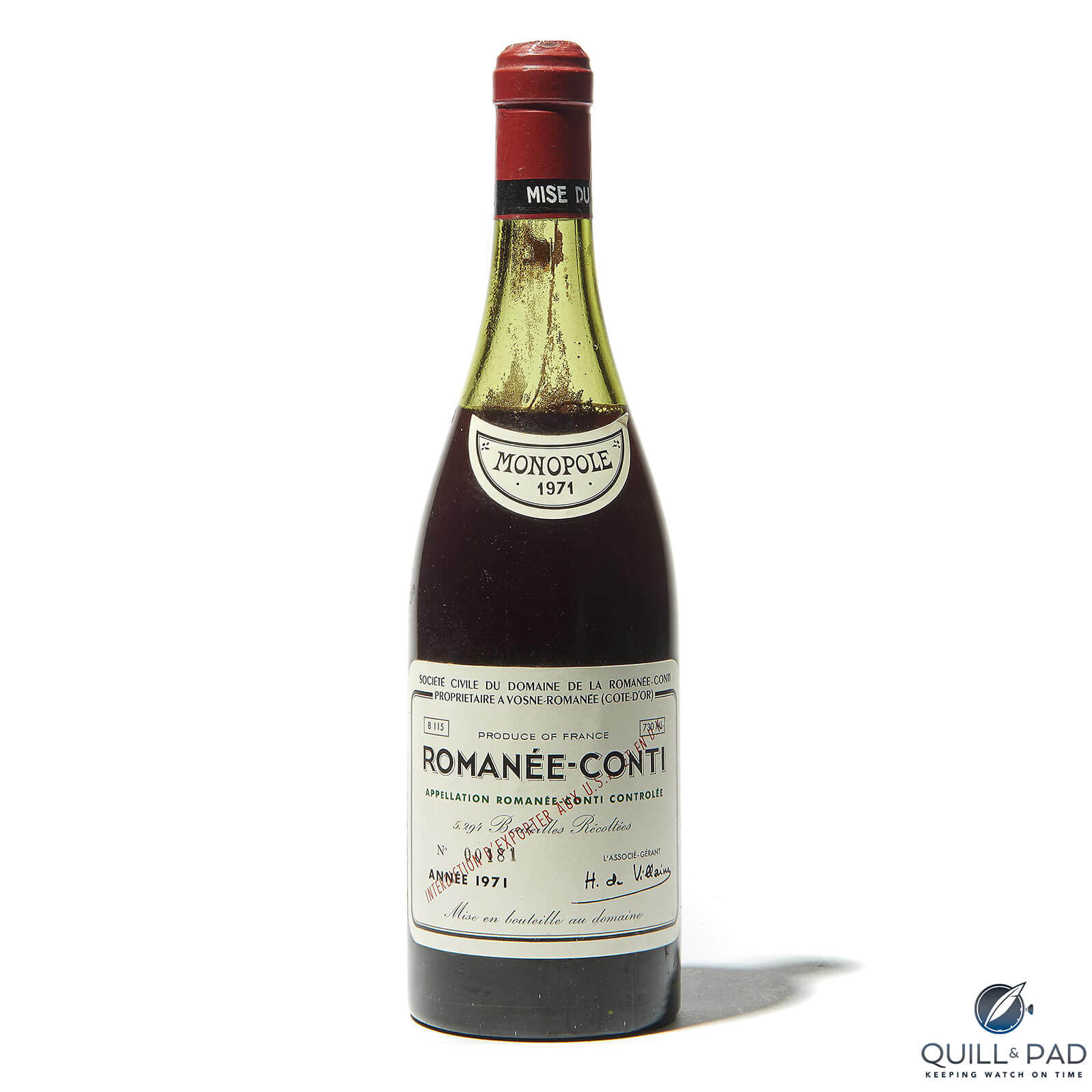 1971 DRC Romanée-Conti (photo courtesy Christies)