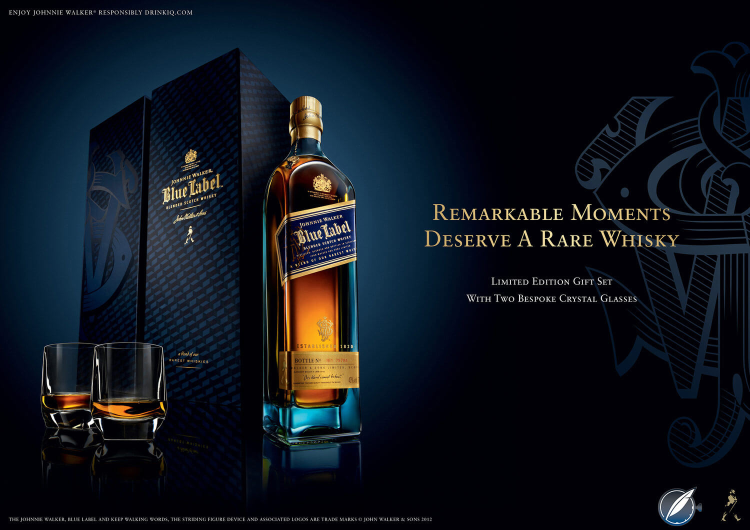 Johnnie Walker Blue Label advertisement