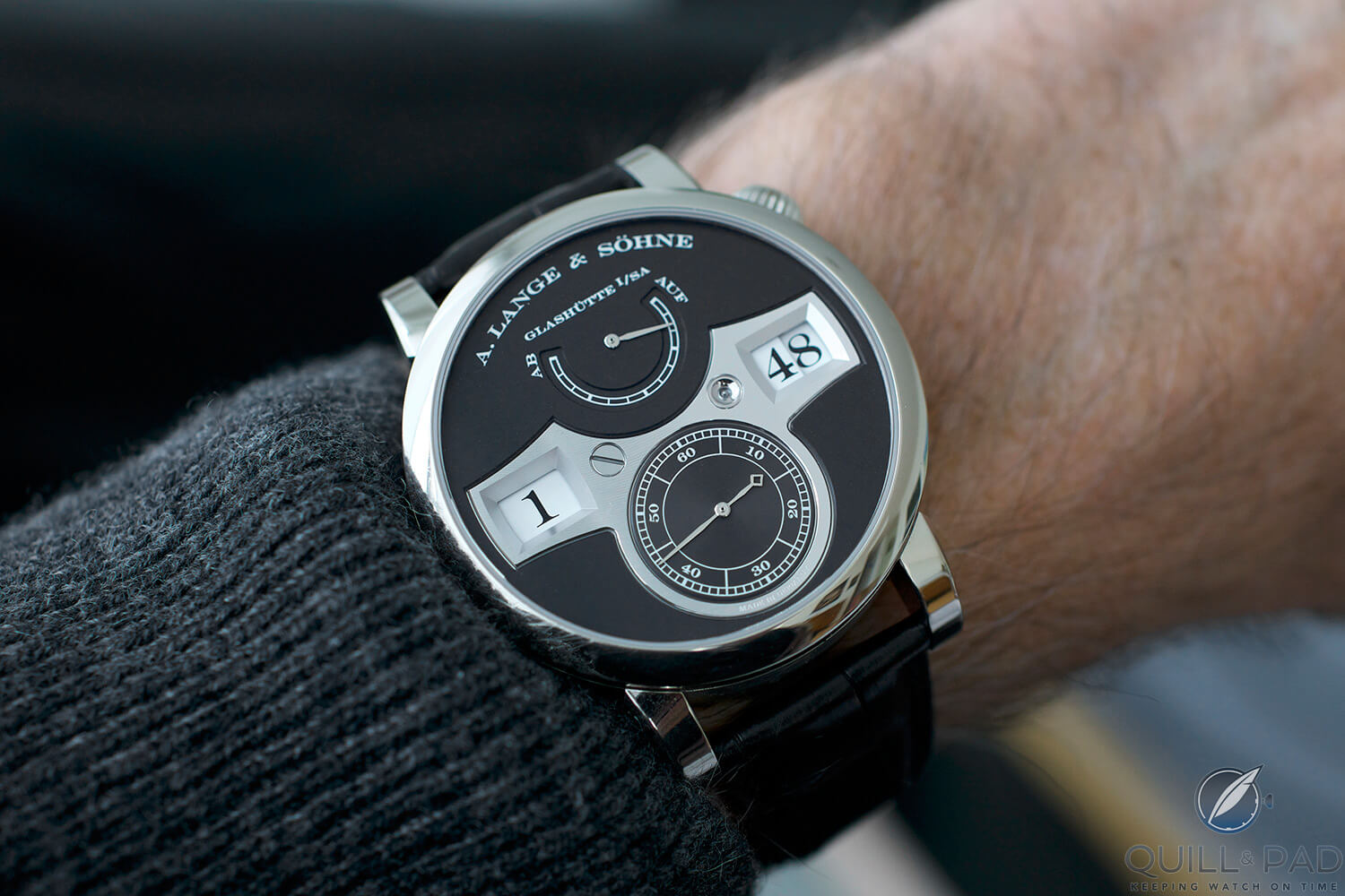 A. Lange & Söhne Zeitwerk on the wrist