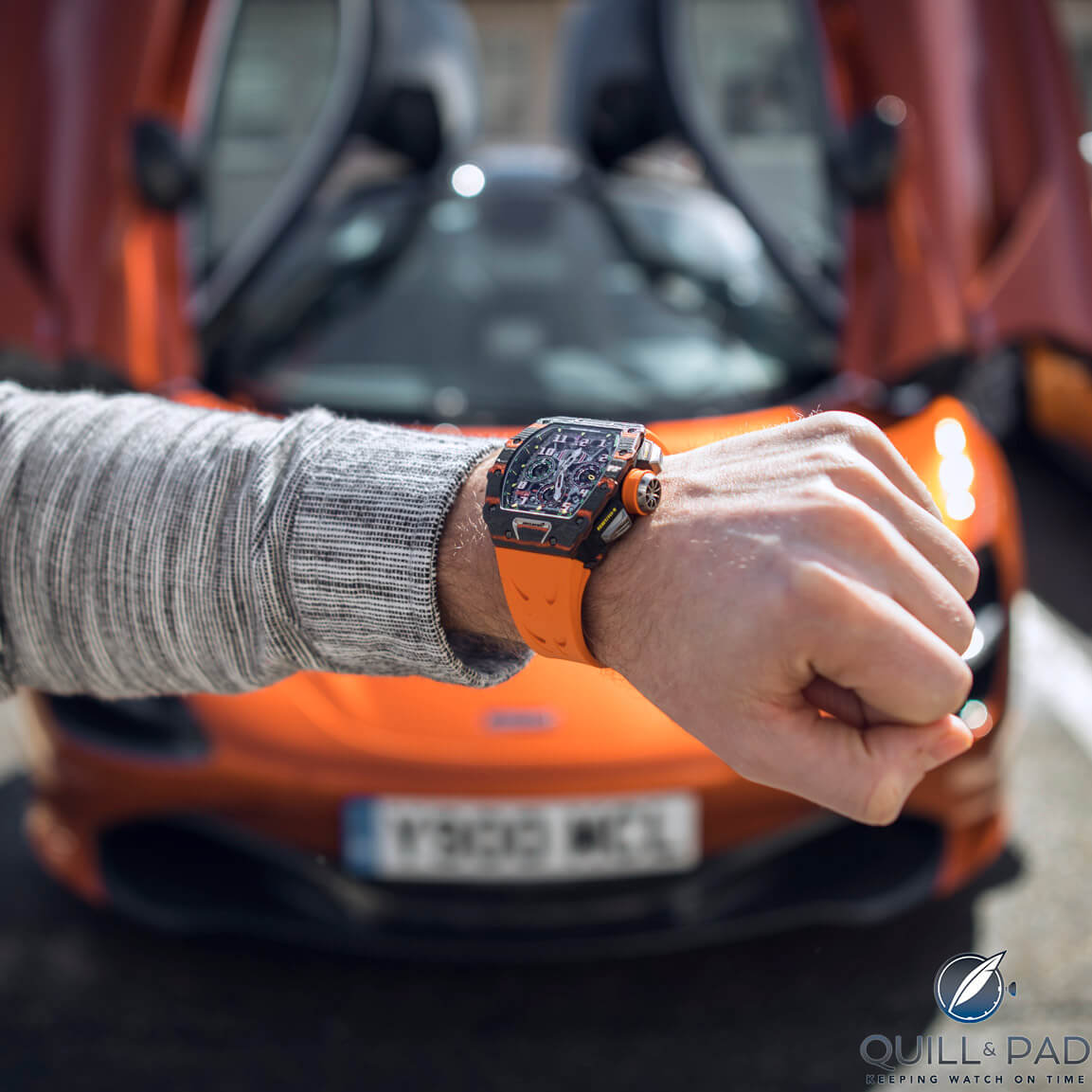 Thank you to Richard Mille for organizing the McLaren experience