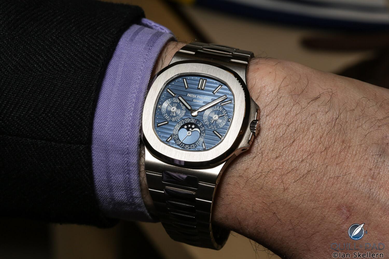 Patek Philippe Nautilus Perpetual Calendar Reference 5740 on the wrist