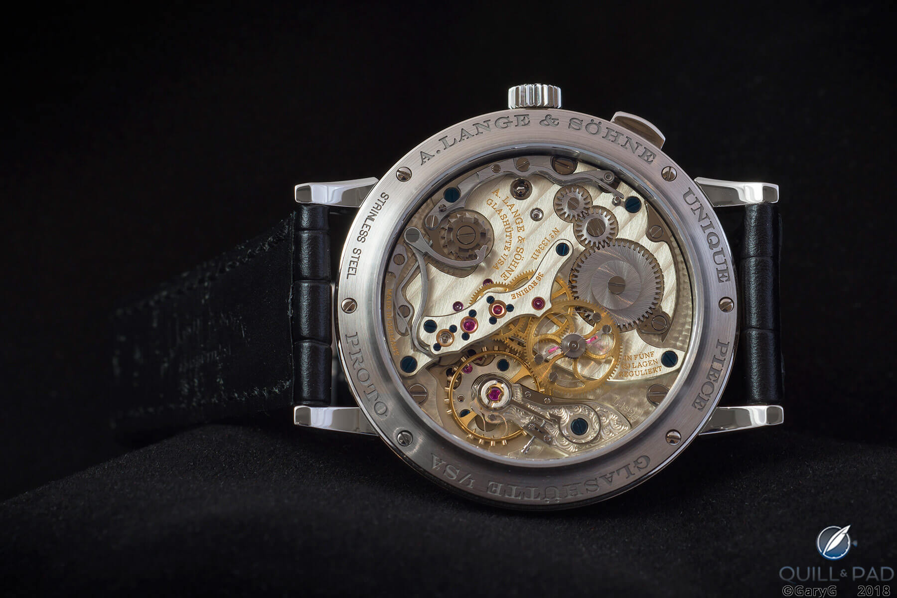 Movement side, Tribute to Walter Lange with Cal. L1924