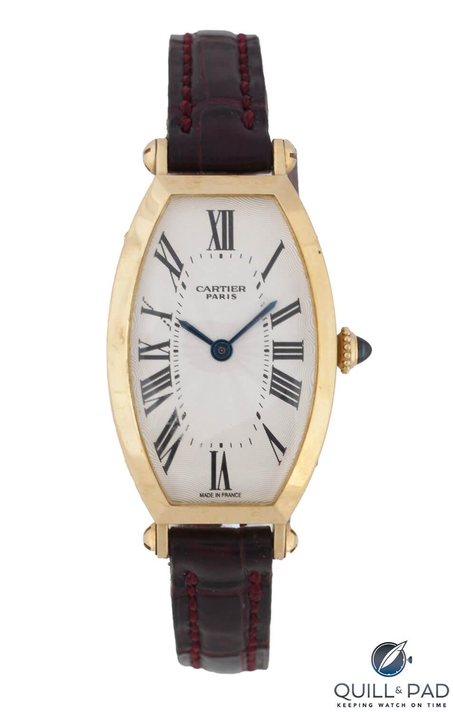 Julien's Auctions Lot 242: Cartier Classic Tonneau Reference 2451A