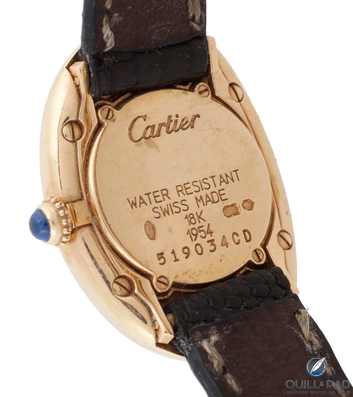 Julien's Auctions Lot 392: Cartier Baignoire back