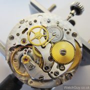 Rolex Caliber 1570 with automatic winding mechanism removed