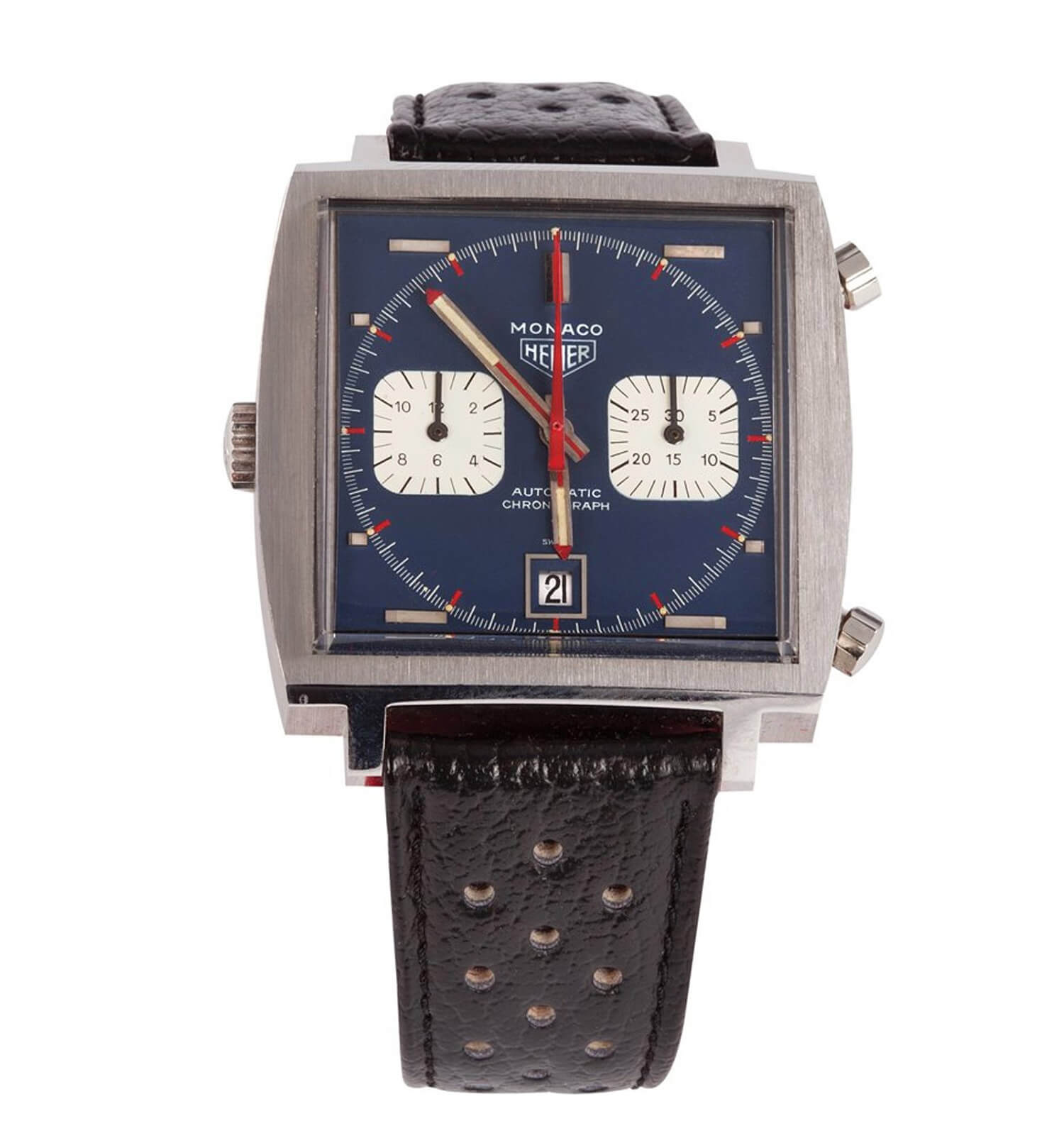 Steve McQueen Heuer Monaco from the 2012 Profiles in History auction (photo courtesy onthedash.com)